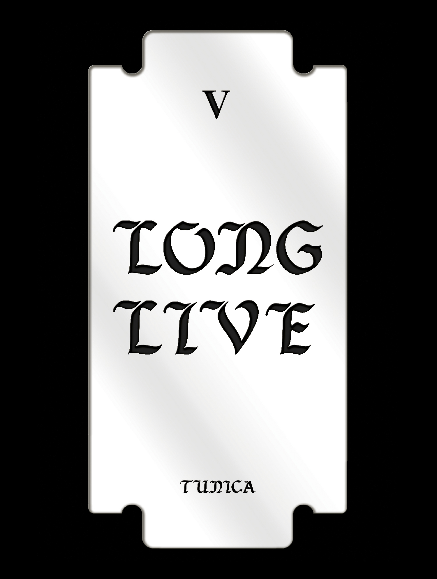 Long Live, Mirrored Plexiglass, 11.48 x22.98 inches, 2016